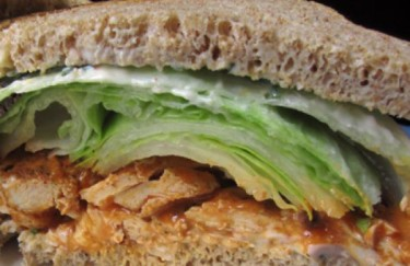Buffalo Tofu Sandwich with Cayenne Aioli