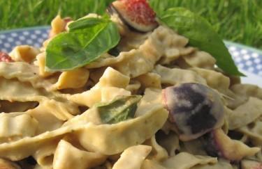 Gluten-Free Recipe Creamy Fig  Basil Pasta