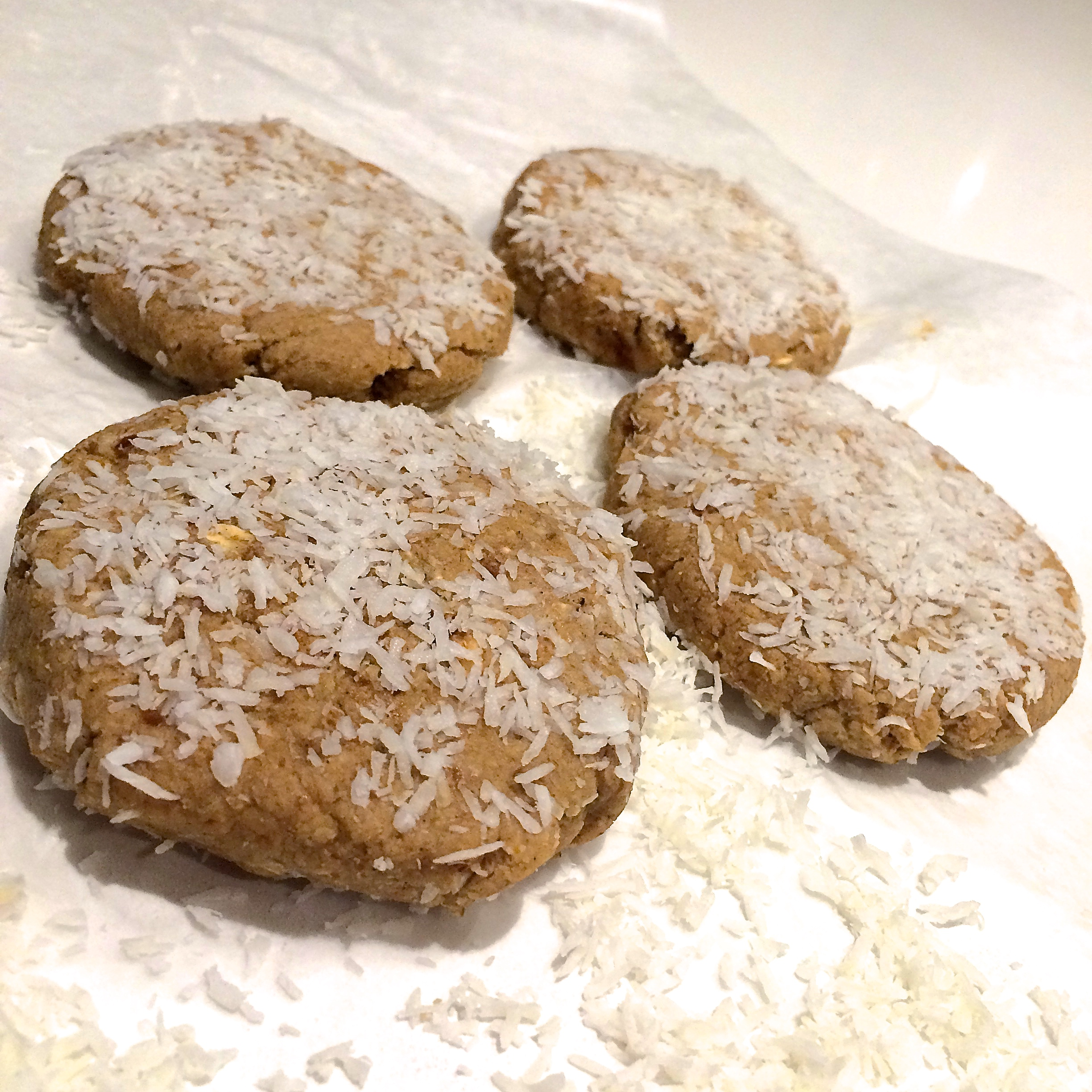Chewy Raw Coconut Cookies