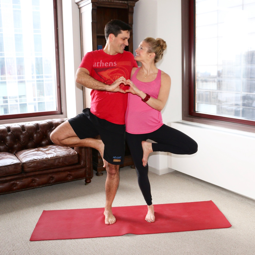the best yoga poses for valentine s day hint they. Black Bedroom Furniture Sets. Home Design Ideas