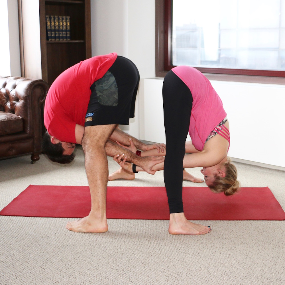the best yoga poses for valentine s day hint they involve two of you heidi kristoffer. Black Bedroom Furniture Sets. Home Design Ideas